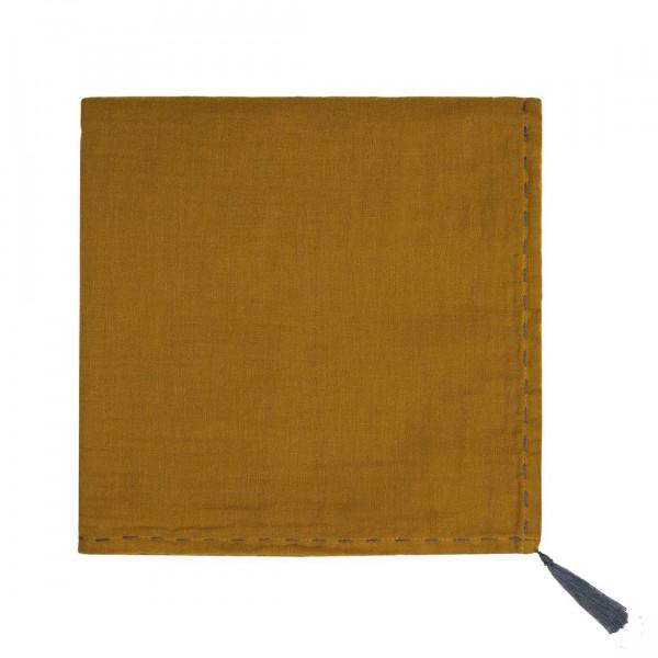 Grand lange en coton bio - Nana swaddle Moutarde Gold