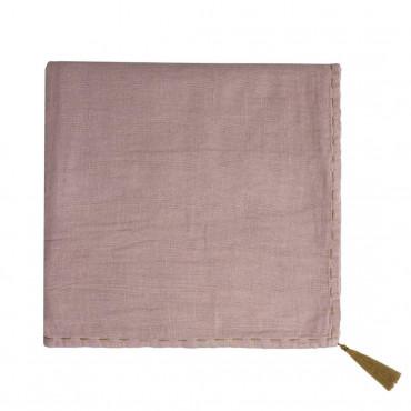 Grand lange en coton bio - Nana swaddle Vieux rose