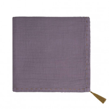 Grand lange en coton bio - Nana swaddle Prune dusty lilac