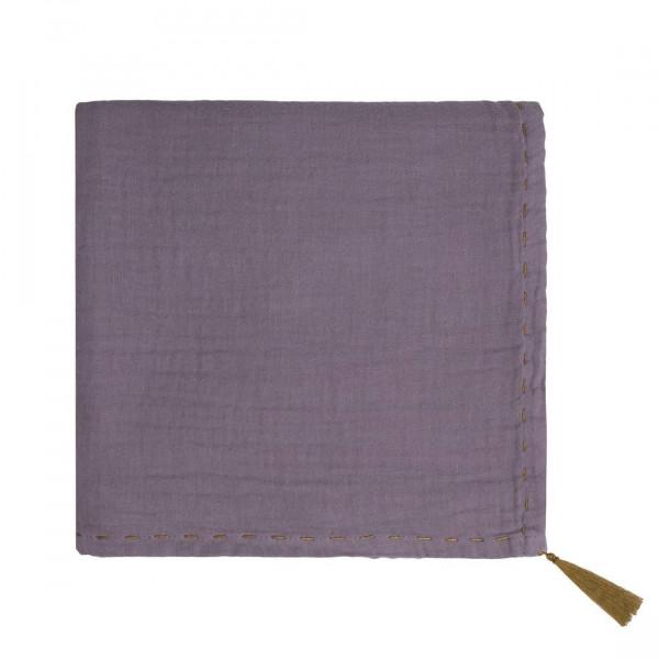 Grand lange en coton bio - Nana swaddle Prune dusty lilac