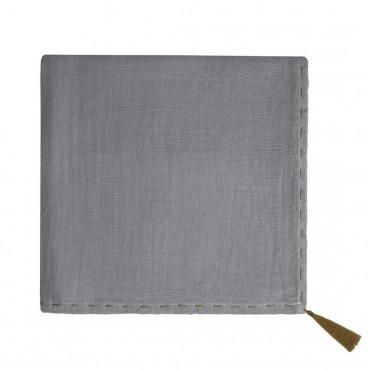 Grand lange en coton bio - Nana swaddle Gris ciment