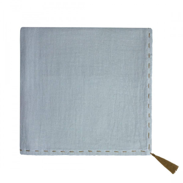 Grand lange en coton bio - Nana swaddle Bleu clair