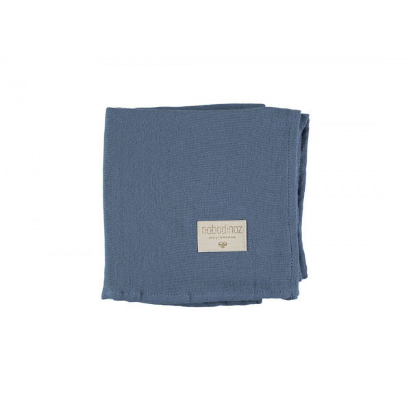 Pack 2 grands langes Butterfly 100x120 cm - Bleu
