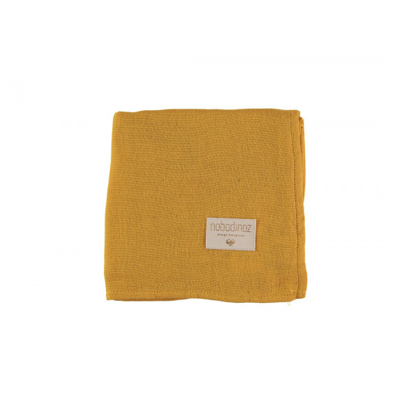 Pack 2 grands langes Butterfly 100x120 cm - Farniente yellow