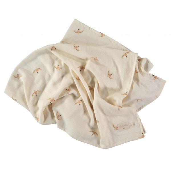 Pack 2 grands langes Butterfly 100x120 cm - Toffee