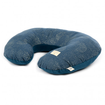 Coussin d'allaitement Sunrise - Gold bubble/Night Blue