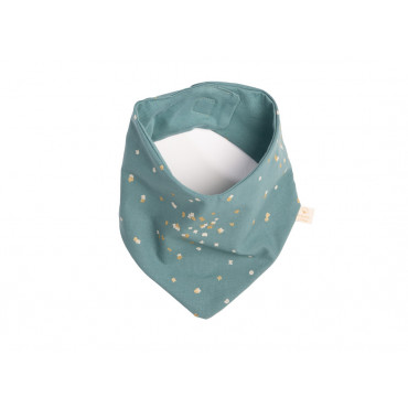 Bavoir bandana Lucky - Gold confetti / Magic green