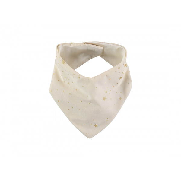 Bavoir bandana Lucky - Gold stella / Natural