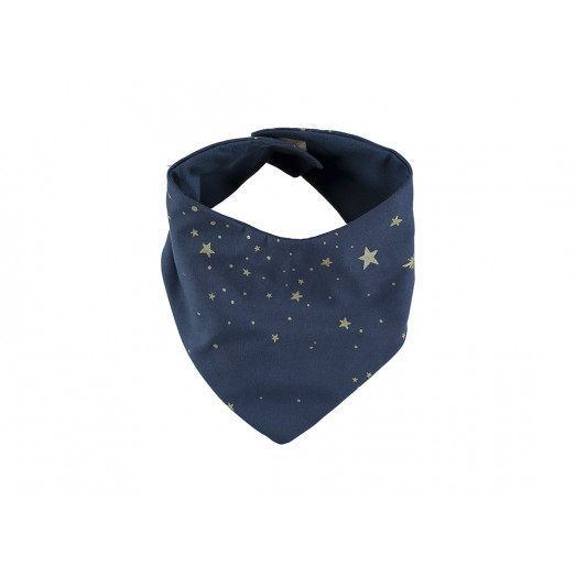 Bavoir bandana Lucky - Gold stella / Night blue