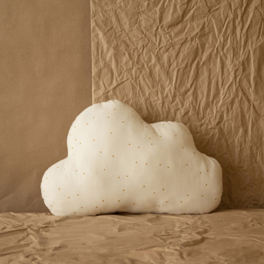 Coussin Cloud - Honey sweet dots natural
