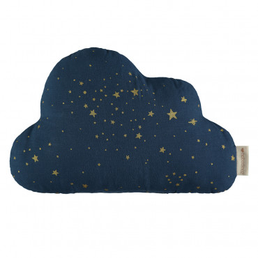 Coussin Cloud - Gold stella / Night blue