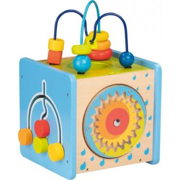 Cube d'activités en bois - Multicolor