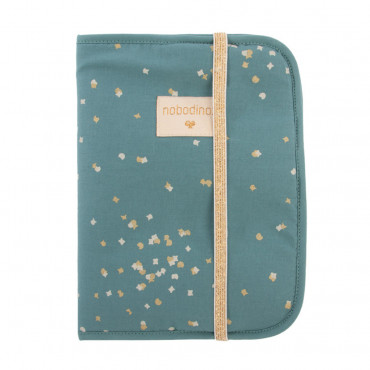 Protège carnet de santé Poema - Gold confetti / Magic green