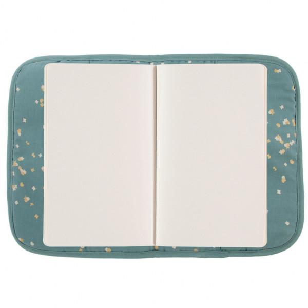 Protège carnet de santé Poema - Gold confetti / Magic green