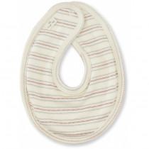 Bavoir bébé en coton bio - Vintage stripe