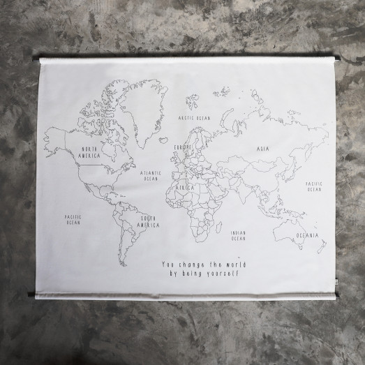 Poster à broder School - World map