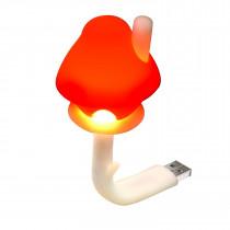 Veilleuse LED pour prise USB - Champignon rouge