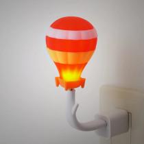 Veilleuse LED pour prise USB - Montgolfière rouge