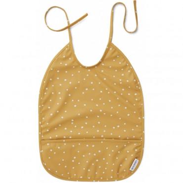 Bavoir plastifié Lai - Confetti mellow yellow