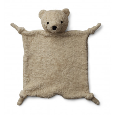 Doudou Ours carré - Lotte cuddle cloth beige