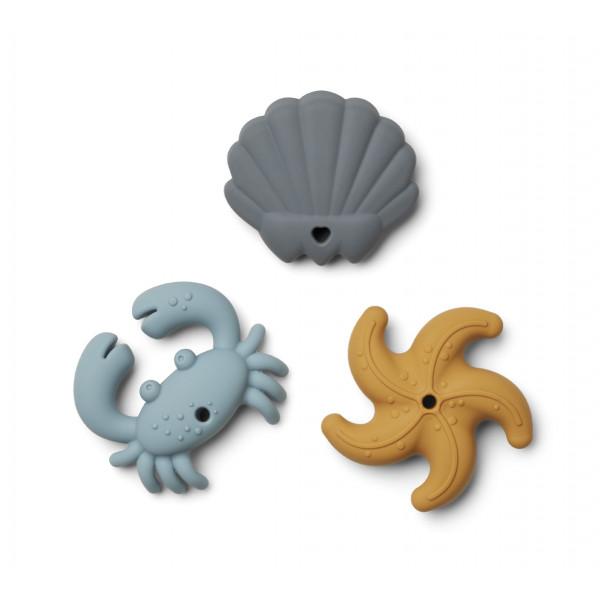 Set de jouets de dentition animaux marins Tonk - Bleu multi mix