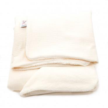 Couverture bébé en gaze de coton - Ecru