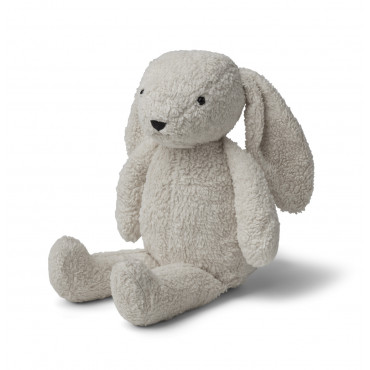 Peluche Fifi en coton éponge - Lapin gris clair