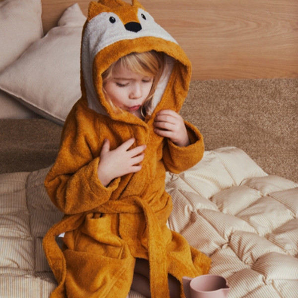 Peignoir enfant Lily - Renard moutarde