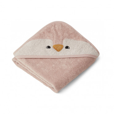 Cape de bain Albert - Pingouin Rose