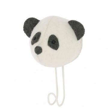 Patère en feutrine - Panda