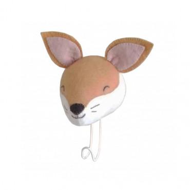 Patère en feutrine - Sleepy renard