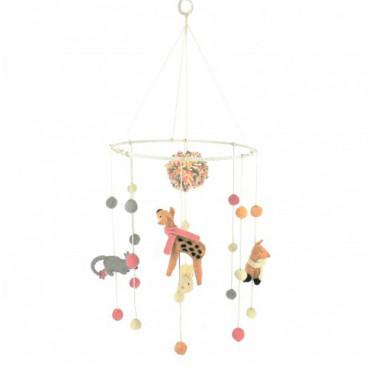 Mobile feutrine - Animaux pastels