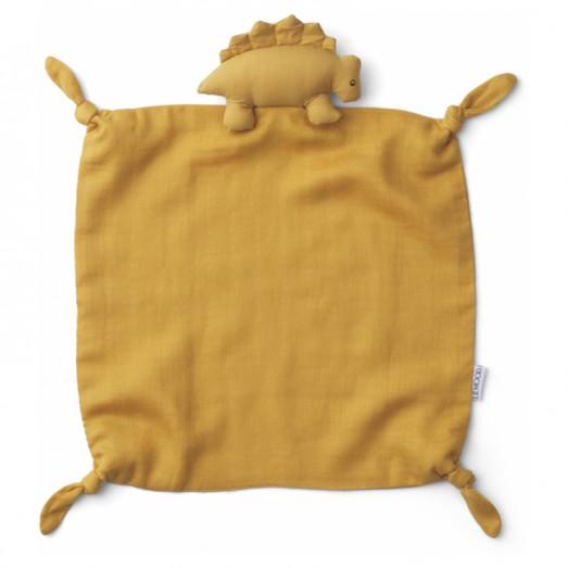 Doudou carré Agnete - Dino yellow mellow