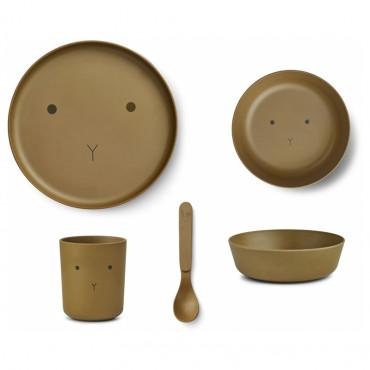 Set de repas en bambou Bamboo - Olive green