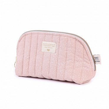 Trousse de toilette Holiday - White bubble/Misty pink