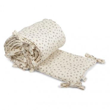 Tour de lit complet en coton bio - Petite rose amour
