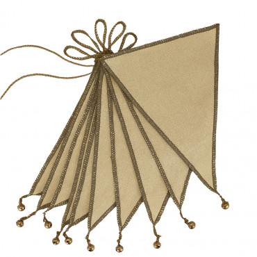 Guirlande fanions et grelots - Jaune clair