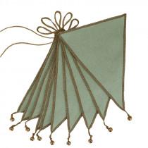 Guirlande fanions et grelots - Vert sauge