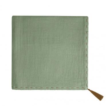Grand lange en coton bio - Nana swaddle Vert sauge