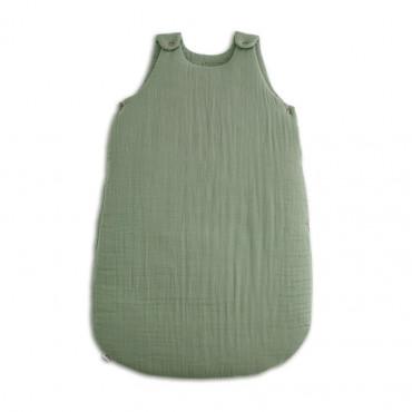 Gigoteuse en coton bio lange uni - Vert sauge