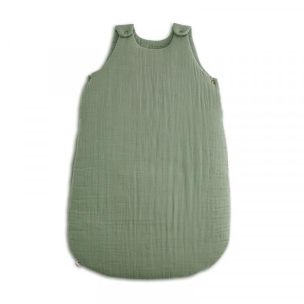 Gigoteuse en gaze de coton bio - Vert sauge, sage green (DS049)