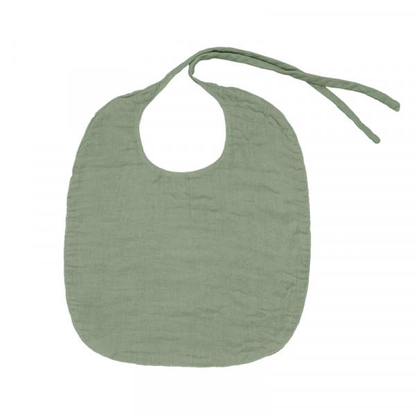 Bavoir rond en lange de coton - Vert sauge