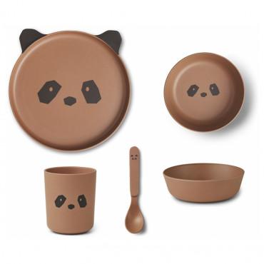 Set de repas en bambou Bamboo - Panda tuscany rose