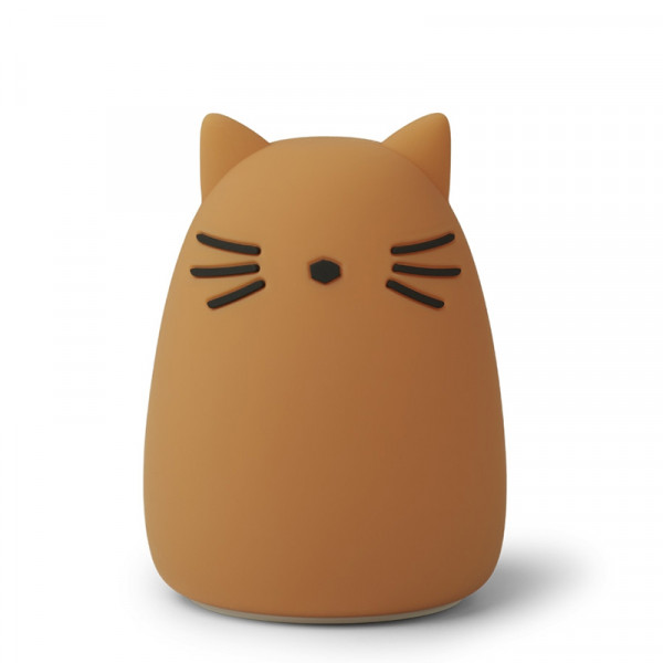 Lampe veilleuse rechargeable Winston - Chat moutarde