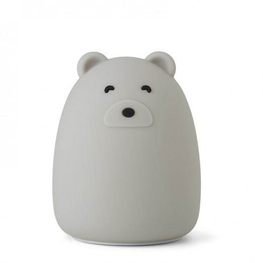 Lampe veilleuse rechargeable Winston - Mr Bear dove blue
