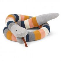 Doudou tricot serpent Fillippa - Multi stripes
