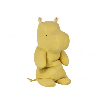 Peluche Safari Friends - Hippo, Jaune lime