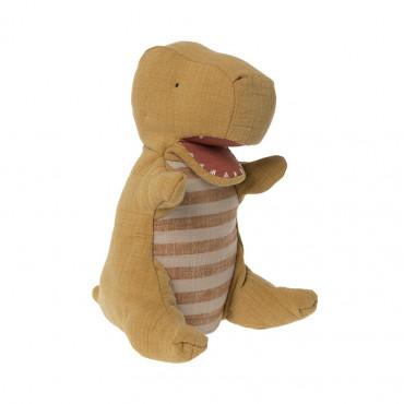 Peluche marionnette Dino - Ocre