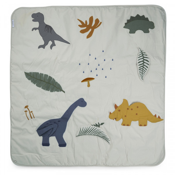 Tapis de jeu Glenn - Dino dove blue mix