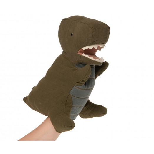 Peluche marionnette Dino - Vert